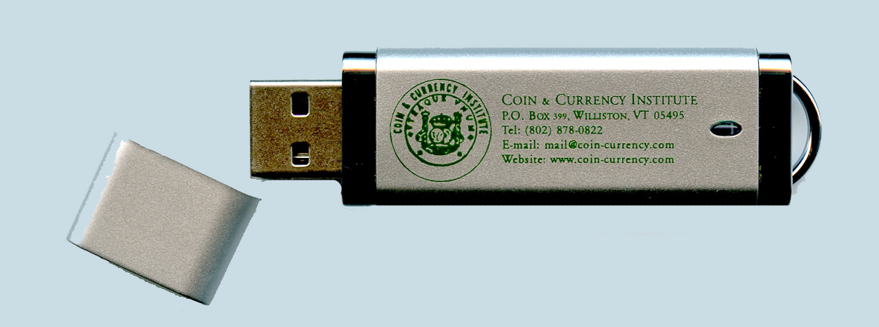 Paper Money of the United States 20th edition. E-Book on USB stick