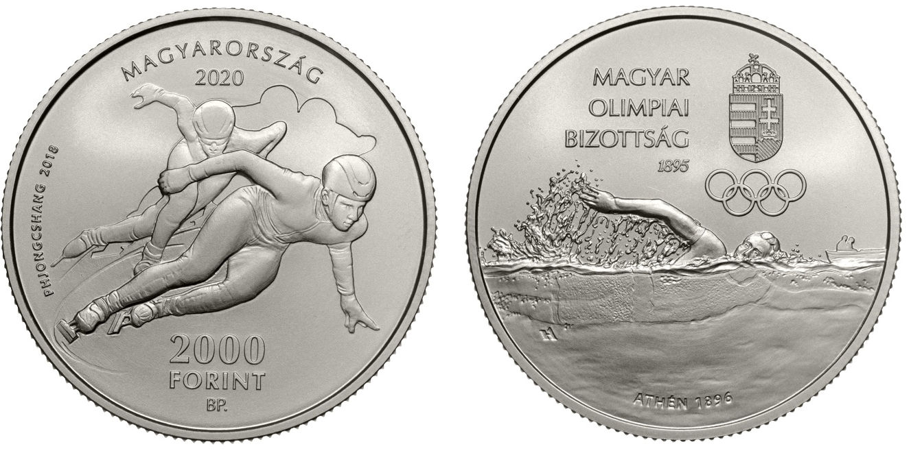 Hungary 10,000 Forint 2020. 125th anniversary of the Hungarian Olympic Committee. Copper-Nickel Unc