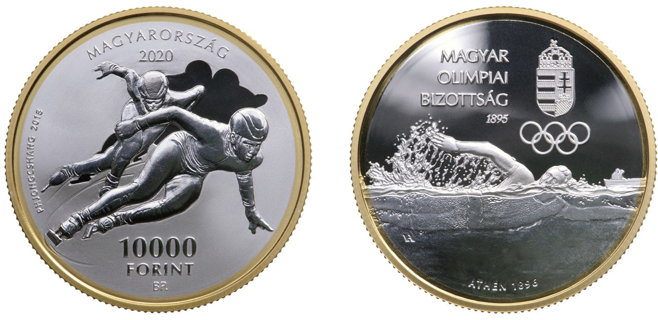 Hungary 10,000 Forint 2020. 125th anniversary of the Hungarian Olympic Committee.Silver Proof