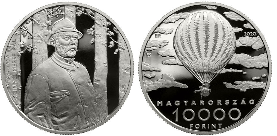 Hungary 10,000 Forint 2020. 175th Anniversary of the Birth of Hungarian Impressionist Pál Szinyei Merse. Silver Proof