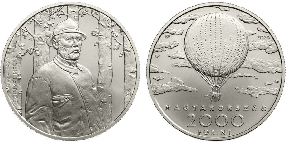 Hungary 2,000 Forint 2020. 175th Anniversary of the Birth of Hungarian Impressionist Pál Szinyei Merse. Copper-nickel BU
