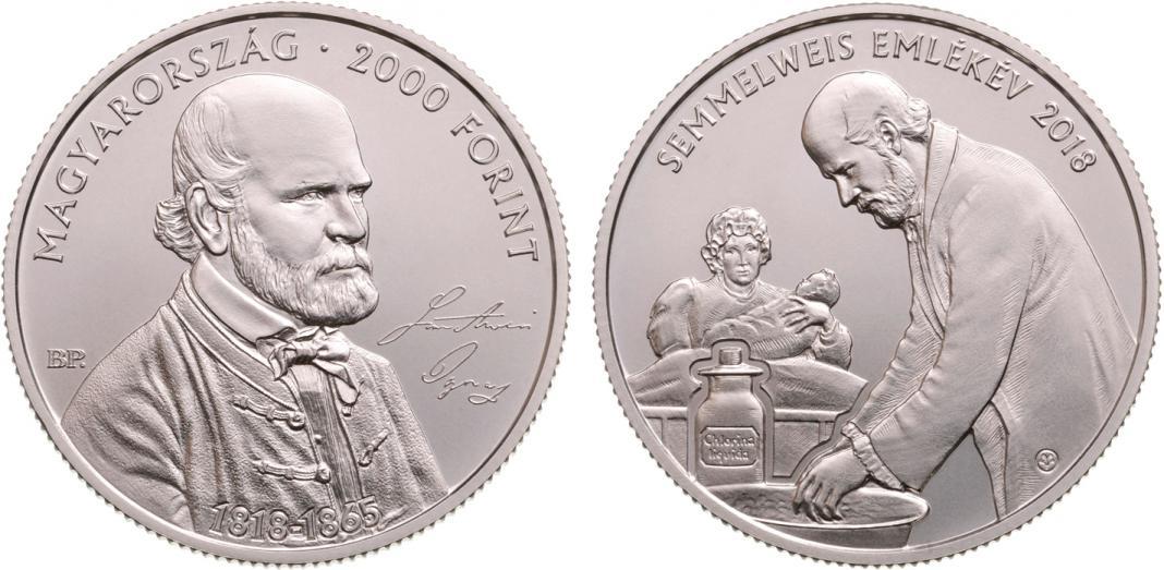 Hungary 2,000 Forint 2018  200th Birthday of Ignac