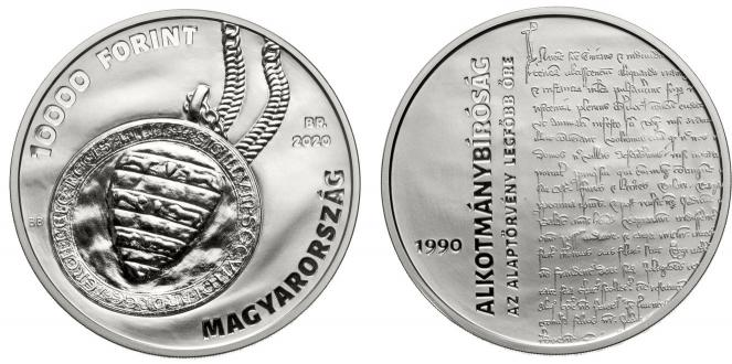 Hungary 10,000 Forint 2020. 0th Anniversary of the Constitutional Court. Silver Proof