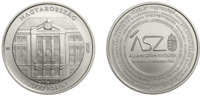 Hungary 10,000 Forint 2020. 150th Anniversary of the State Audit Office. Silver Proof