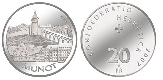 Switzerland 100 years of the Jungfrau Railway Silver Proof 20 Francs 2012