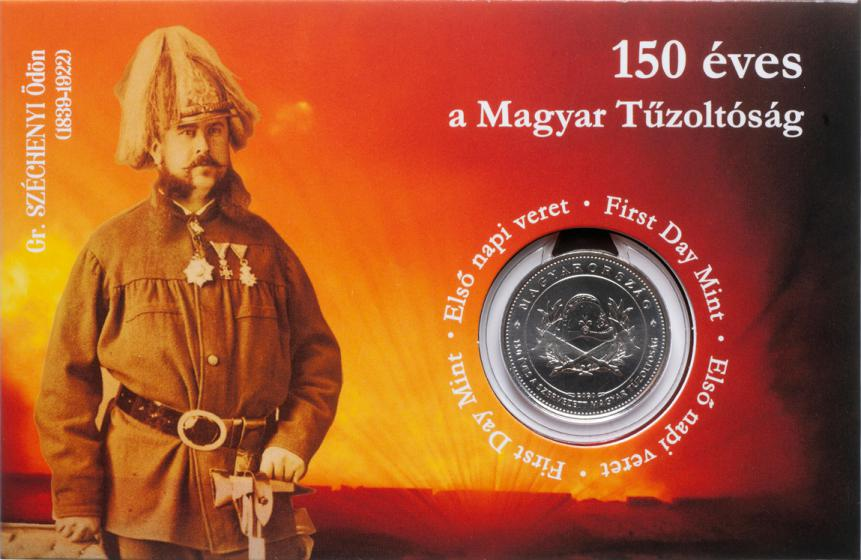 Hungary 50 Forint 2020. 150 Years of Fire Departments in Hungary. Copper-nickel Uncirculated. 1st Day of Issue