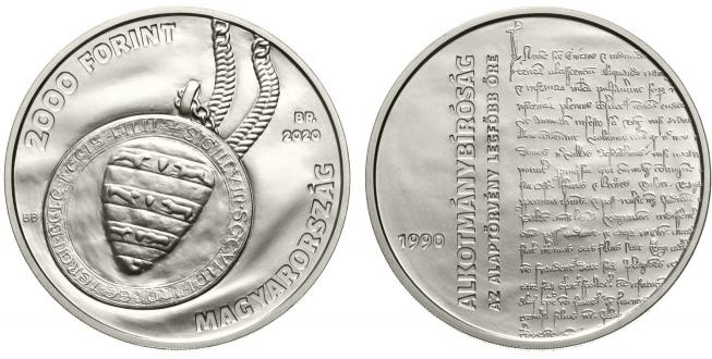 Hungary 2,000 Forint 2020. 0th Anniversary of the Constitutional Court. Cu-Ni BU