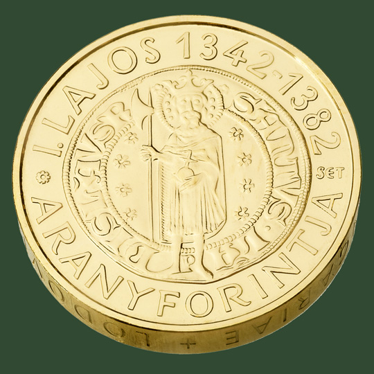 Hungary. 50,000 Forint 2013. The Gold Florin of King Louis I (The Great). Gold Piéfort. Uncirculated