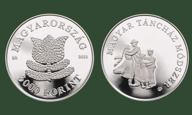 "Hungary. 3,000 Forint 2013. The Hungarian ""Táncház"" Method. Silver Proof"