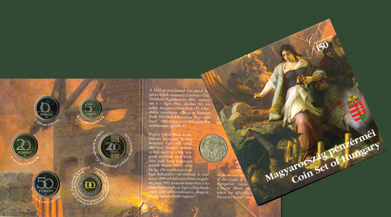 Hungary's 2013 Proof Set with 1,000 forint The Stars of Eger commemorative coins