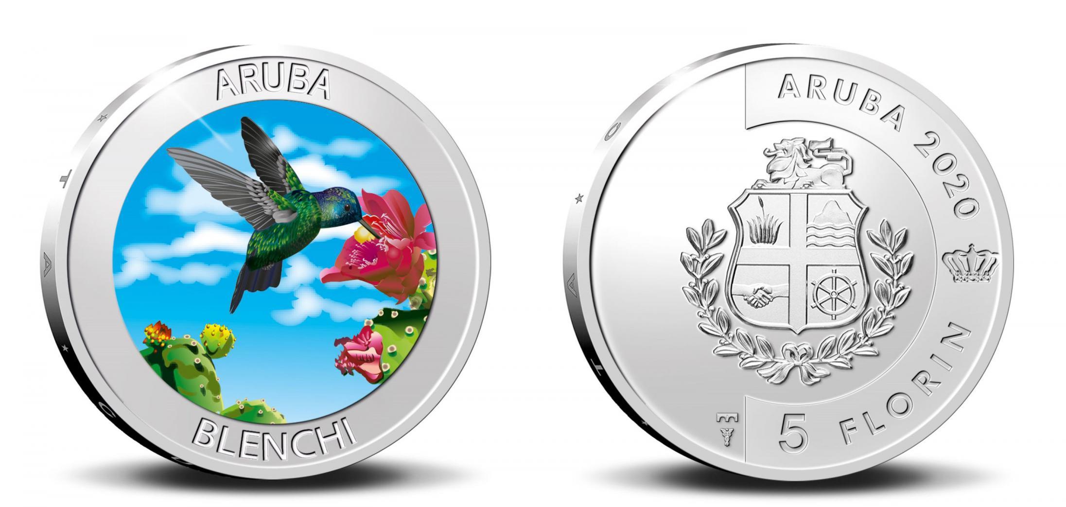 Aruba 5 Florins 2020. The Blenchi. Silver Proof